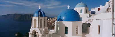 High Angle View Of A Church, Church Of Art Print