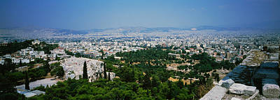 Acropolis Photograph - High Angle View Of A City, Acropolis by Panoramic Images