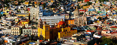 Guanajuato Photograph - High Angle View Of A City, Basilica by Panoramic Images