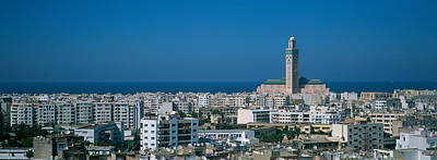Casablanca Photograph - High Angle View Of A City, Casablanca by Panoramic Images