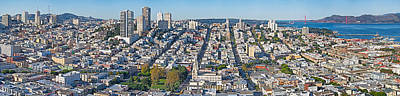 High Angle View Of A City, Coit Tower Art Print by Panoramic Images