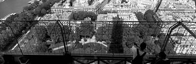 High Angle View Of A City, Eiffel Art Print by Panoramic Images