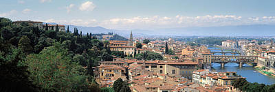 High Angle View Of A City, Florence Art Print by Panoramic Images
