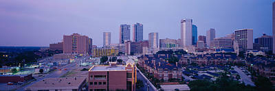 Worth Photograph - High Angle View Of A City, Fort Worth by Panoramic Images