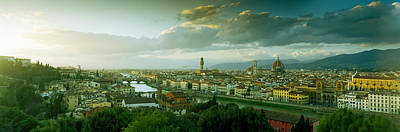 High Angle View Of A City From Piazzale Art Print by Panoramic Images