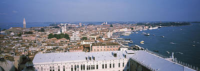Doges Palace Photograph - High Angle View Of A City, Grand Canal by Panoramic Images
