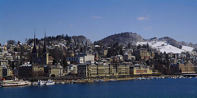 Lucerne Photograph - High Angle View Of A City, Lucerne by Panoramic Images