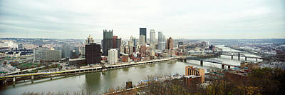 Allegheny County Photograph - High Angle View Of A City, Pittsburgh by Panoramic Images
