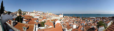Alfama Photograph - High Angle View Of A City, Sao Vicente by Panoramic Images