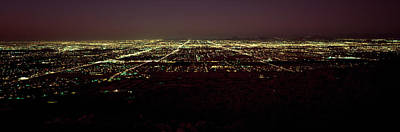 South Mountain Photograph - High Angle View Of A City, South by Panoramic Images