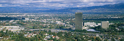 Fernando Photograph - High Angle View Of A City, Studio City by Panoramic Images