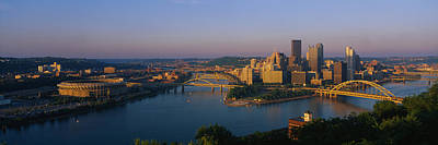 High Angle View Of A City, Three Rivers Art Print by Panoramic Images
