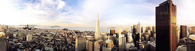 High Angle View Of A City, Transamerica Art Print by Panoramic Images