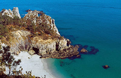 Featured Images Photograph - High Angle View Of A Coast, Crozon by Panoramic Images