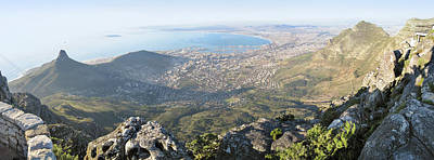 Table Mountain Photograph - High Angle View Of A Coastline, Table by Panoramic Images