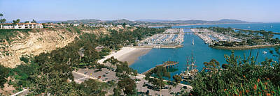 Orange County Photograph - High Angle View Of A Harbor, Dana Point by Panoramic Images
