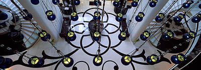 High Angle View Of A Hotel Lobby, W Print by Panoramic Images