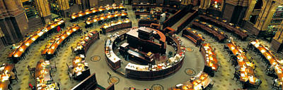 High Angle View Of A Library Reading Art Print by Panoramic Images