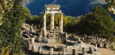 Ancient Greece Photograph - High Angle View Of A Monument, Tholos by Panoramic Images