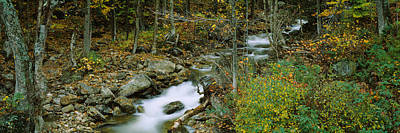 High Angle View Of A Stream Passing Art Print by Panoramic Images