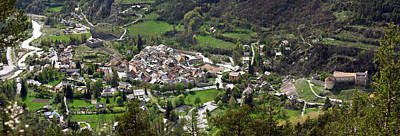 Provence Photograph - High Angle View Of A Town, Annot by Panoramic Images