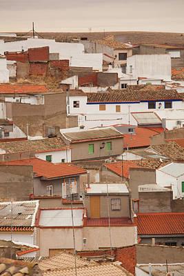 High Angle View Of A Town, Campo De Art Print