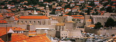 Rooftop Photograph - High Angle View Of A Town, Old Port by Panoramic Images
