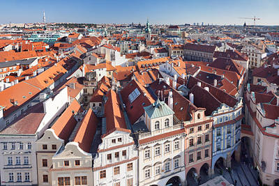 Prague Photograph - High Angle View Of A Town, Old Town by Panoramic Images
