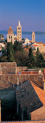 Rooftop Photograph - High Angle View Of A Town, Rab Island by Panoramic Images