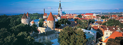 High Angle View Of A Town, Tallinn Art Print by Panoramic Images