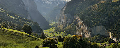 Lauterbrunnen Wall Art - Photograph - High Angle View Of A Valley by Panoramic Images