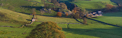 Peak District Photograph - High Angle View Of A Village In Valley by Panoramic Images