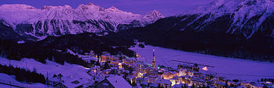 Graubunden Photograph - High Angle View Of A Village, St by Panoramic Images
