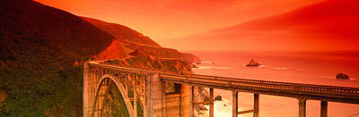 Big Sur Photograph - High Angle View Of An Arch Bridge by Panoramic Images