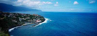 Azores Photograph - High Angle View Of An Island, Ponta by Panoramic Images