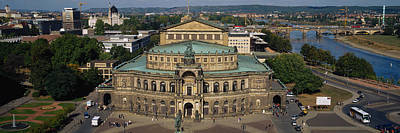 Dresden Wall Art - Photograph - High Angle View Of An Opera House by Panoramic Images