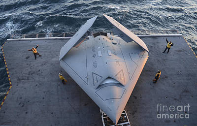 Uca Photograph - High Angle View Of An Unmanned Combat by Stocktrek Images