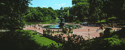 High Angle View Of Bethesda Terrace Art Print by Panoramic Images