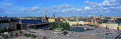 Gamla Stan Photograph - High Angle View Of Cityscape, Gamla by Panoramic Images