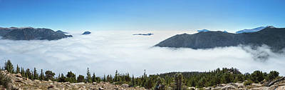 High Angle View Of Clouds From Trail Art Print