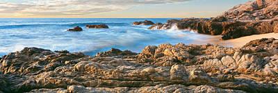 High Angle View Of Coastline, Cerritos Art Print