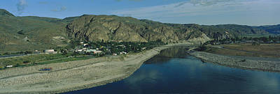 High Angle View Of Columbia River Print by Panoramic Images
