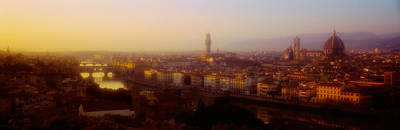 High Angle View Of Florence, Italy Art Print by Panoramic Images