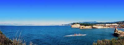Corfu Photograph - High Angle View Of Ionian Sea, Corfu by Panoramic Images