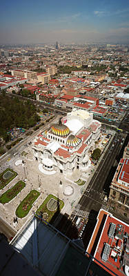 Mexico City Photograph - High Angle View Of Palacio De Bellas by Panoramic Images