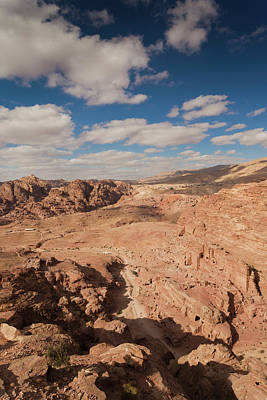 Petra Photograph - High Angle View Of Petra Valley by Panoramic Images