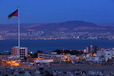 Jordan Photograph - High Angle View Of Port Of Aqaba by Panoramic Images