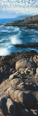 High Angle View Of Rocks On The Coast Art Print