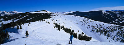 Vail Photograph - High Angle View Of Skiers Skiing, Vail by Panoramic Images