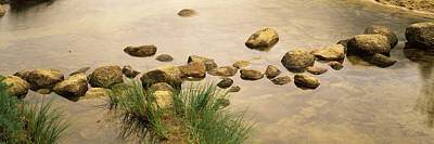 High Angle View Of Stepping Stones Art Print by Panoramic Images